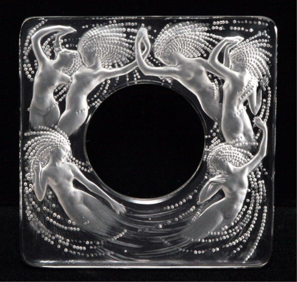 "12: Rene Lalique, ""Naiades"" Clear Glass Clock Frame"