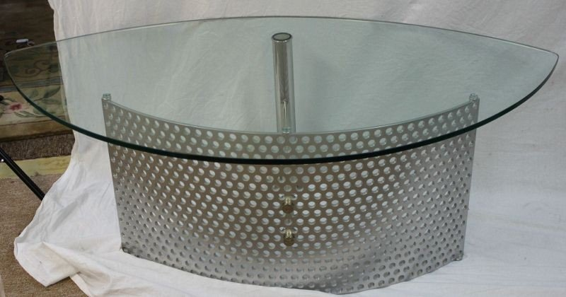 18: Glass and Chrome Coffee Table.  Germany