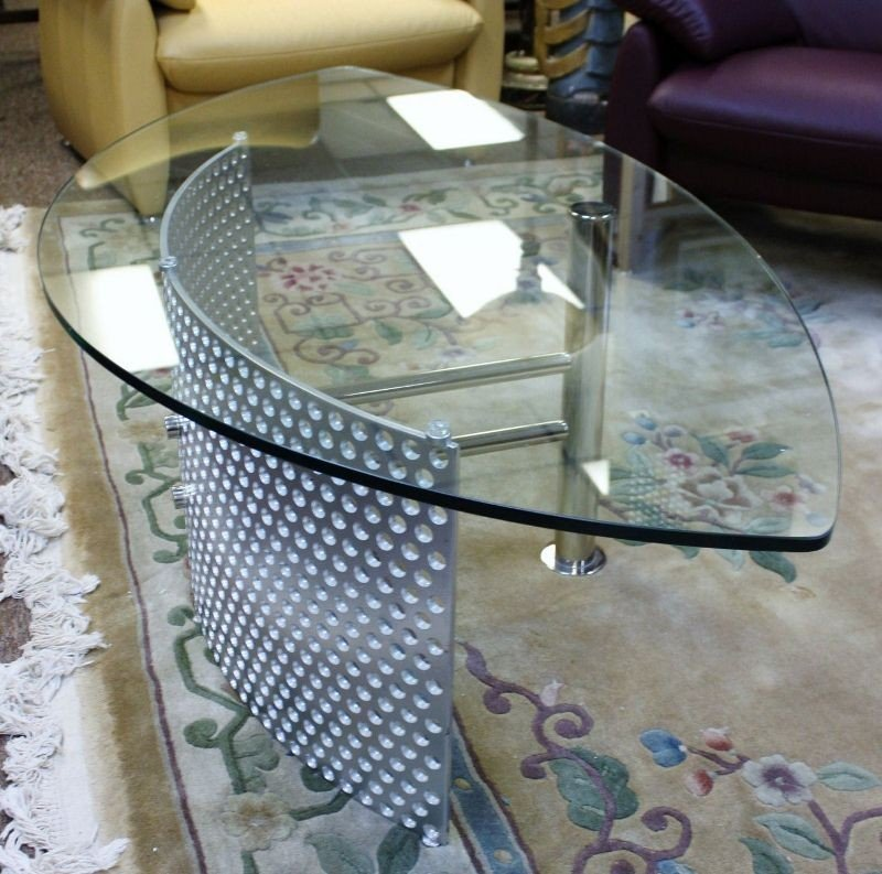 18: Glass and Chrome Coffee Table.  Germany - 2
