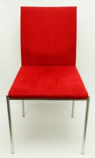 21: Karl Friedrich Forster, Germany Red Side Chair