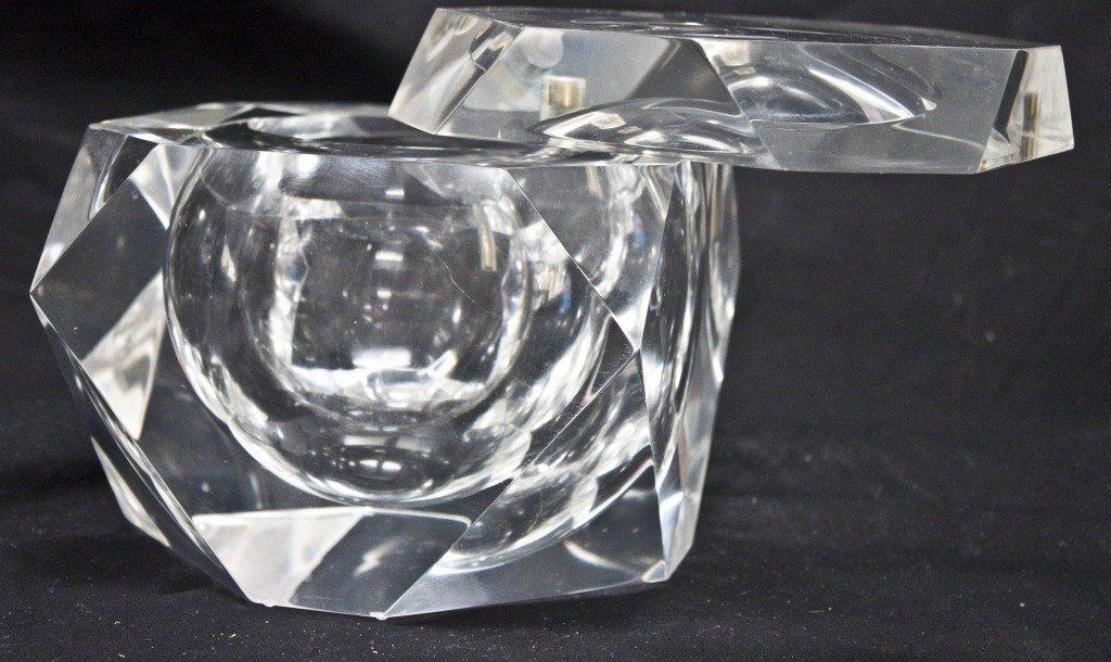 32: Large Geometric Lucite Box
