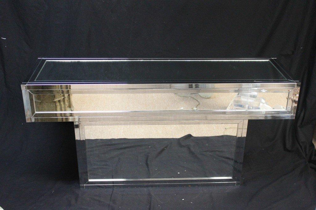 36: Mirrored Chrome Console  or Sofa Table