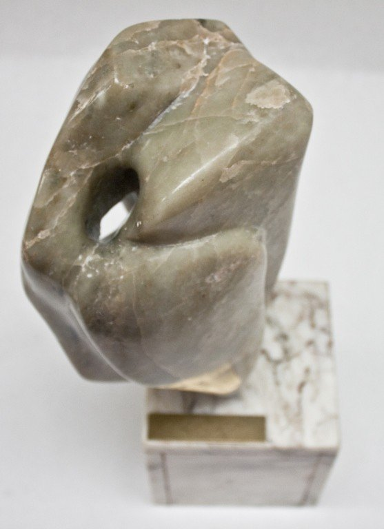 41: Signed Marble Abstract Sculpture