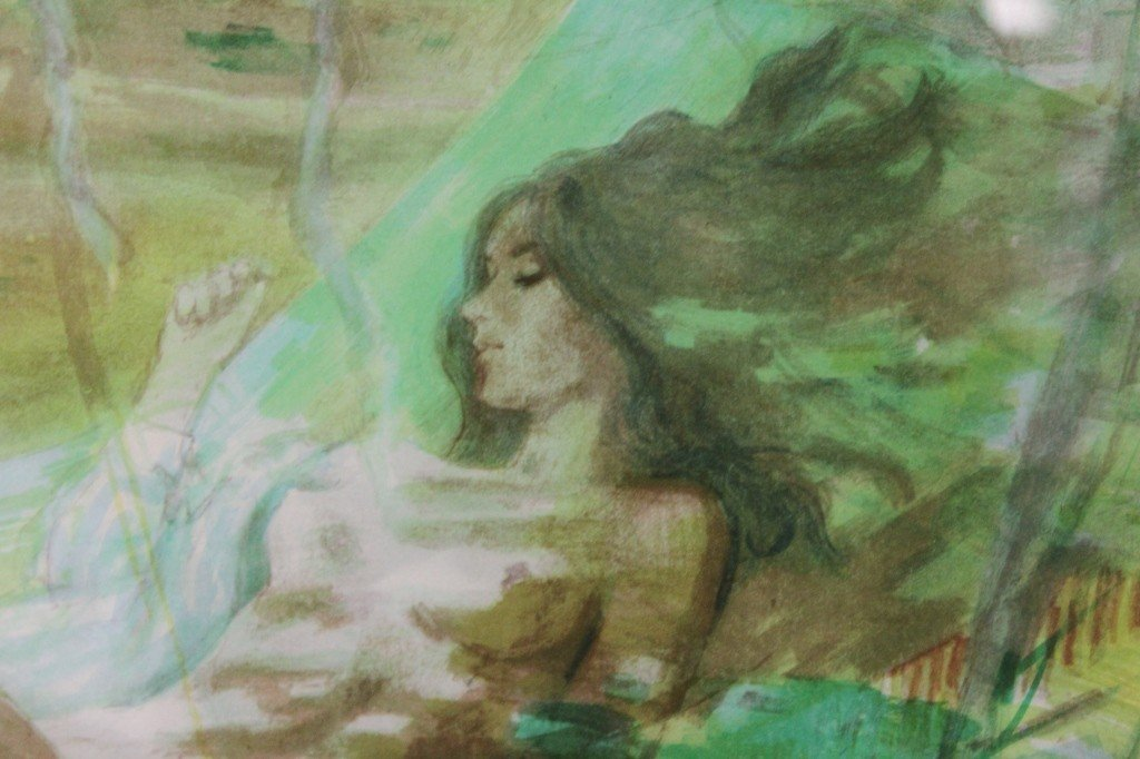 71: Harrison Rucker Impressionistic Watercolor Litho