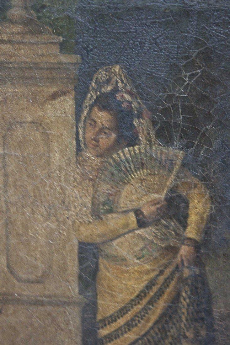 74: Spanish Maiden Oil Painting