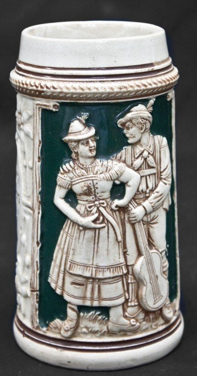 80: Late 19th C, Early 20th C German Beer Stein