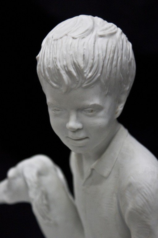 81: Vista Allegre Porcelain Sculpture Of A Boy And Dog