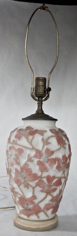 85: Phoenix Art Glass Vase Mounted As A Lamp