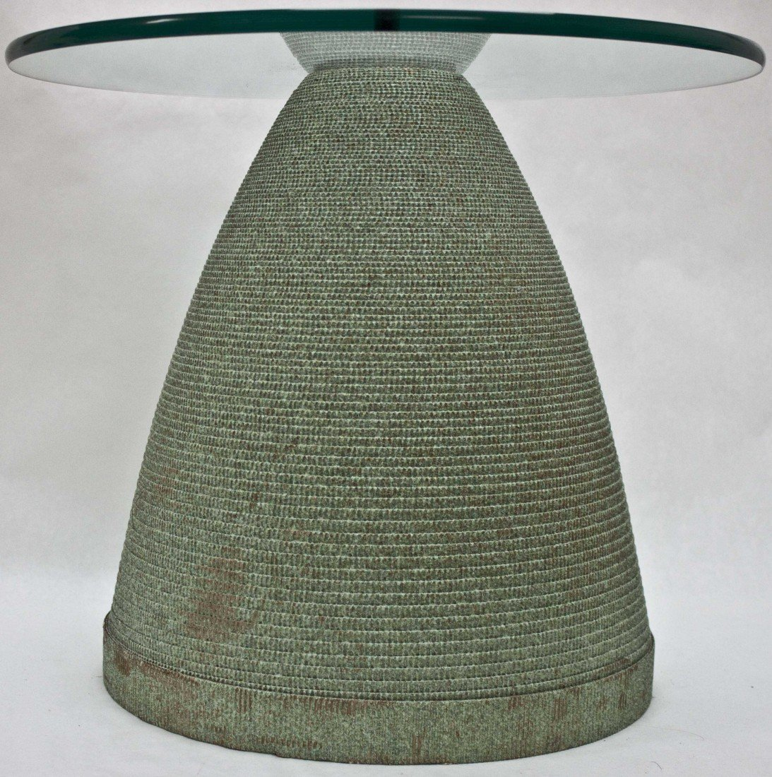 37A: Flute Glass and Corrugated Paper End Table