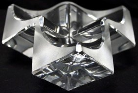 Modernistic Daum France Cube Form Bowl