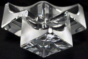 1: Modernistic Daum France Cube Form Bowl