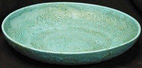 Mid Century  Modern Brutalist Glaze Centerpiece Bowl