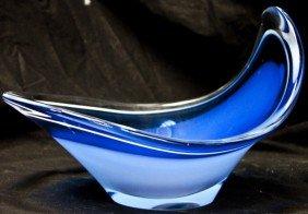 9: Blue And White Swedish Art Glass