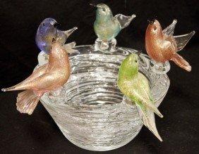 Murano Birds Nest Bowl