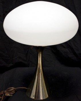 18: Laurel Brass Lamp W/ Frosted Glass Globe