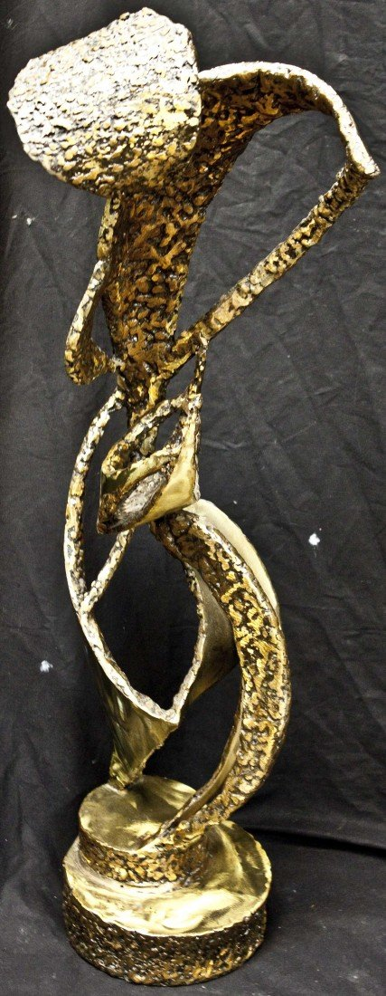 44: Brutalist Modern Bronze Abstract Freeform Sculpture