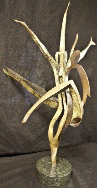 46: Modern Bronze Sculpture Of Dancers