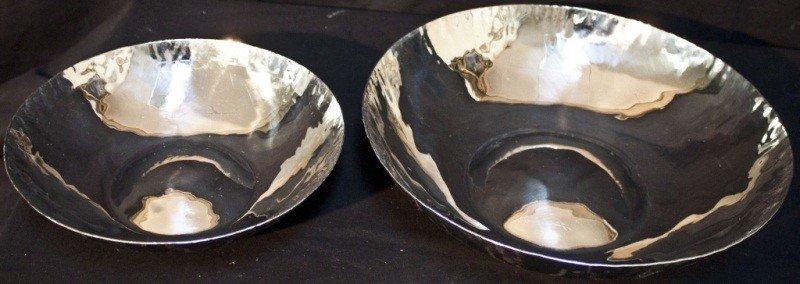 12: Pair Of Aram Chrome Polished Centerpiece Bowls