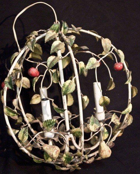 15: Italian Wrought Iron Garden Form Light Fixture