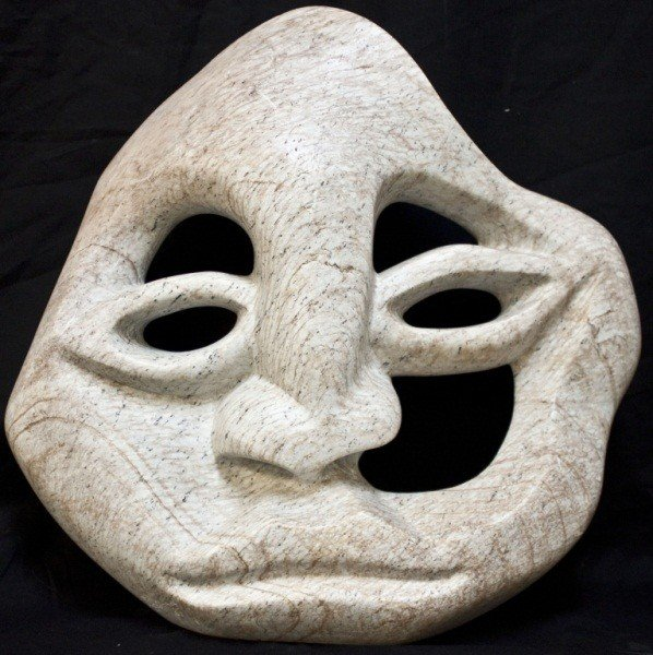 16: Modern Marble Abstract Face Carving