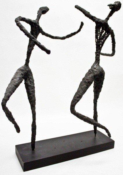 23: Bronze Brutalist Sculpture Of Dancers