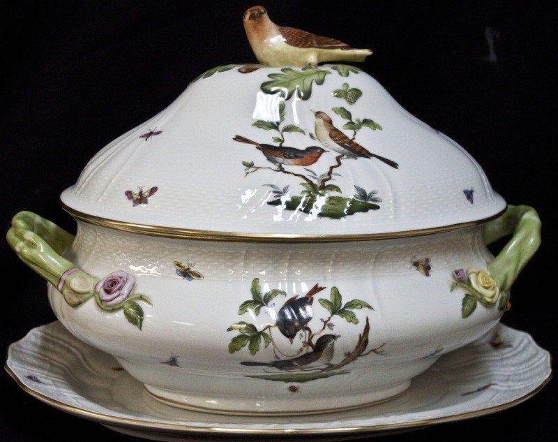65: Large Herend Tureen W/ Platter
