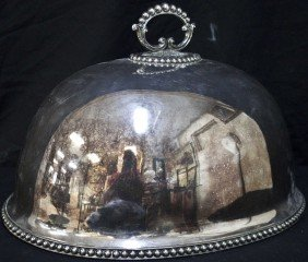 19c Silver Plated Serving Dome