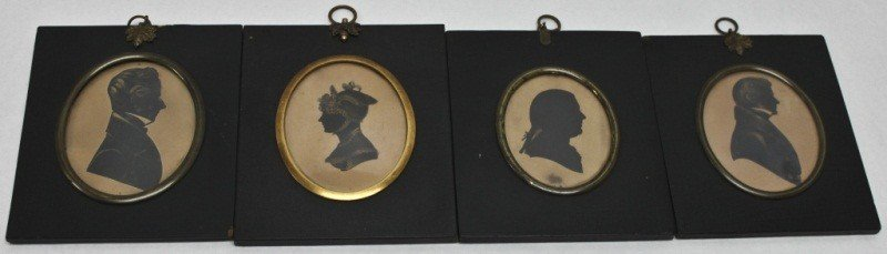 76: Four 18/19c Silhouettes Of Muirhead Family Line
