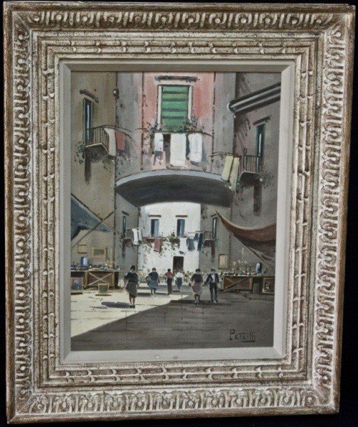 86: Petrilli Street Scene, Oil On Canvas