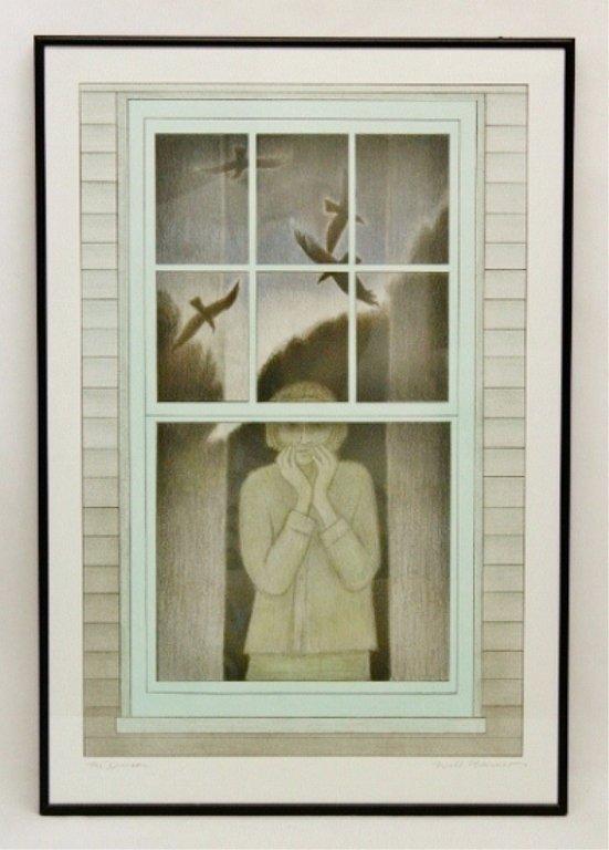 """5: Will Barnet Lithograph """"The Dream"""""""