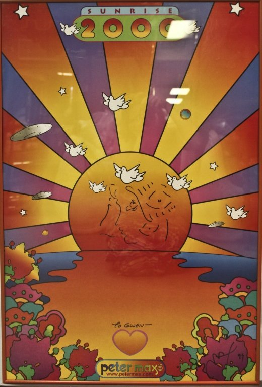 6: Autographed Peter Max Poster