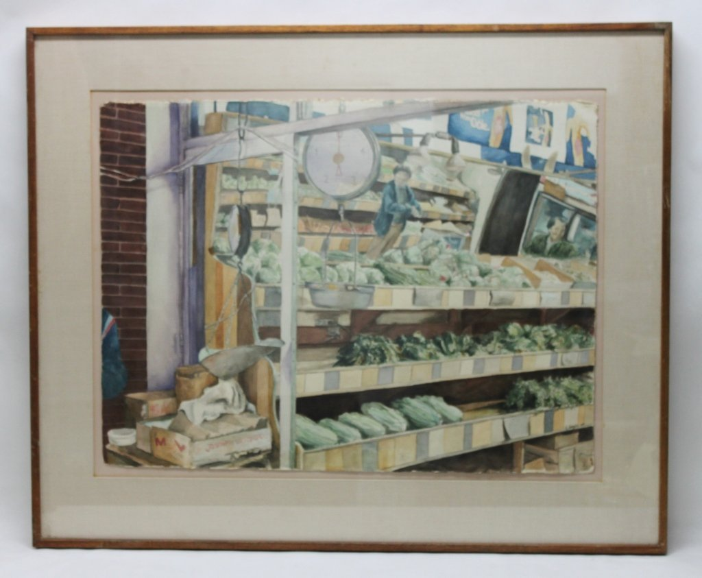 8: K. Seigler Watercolor Depicting Fresh Market