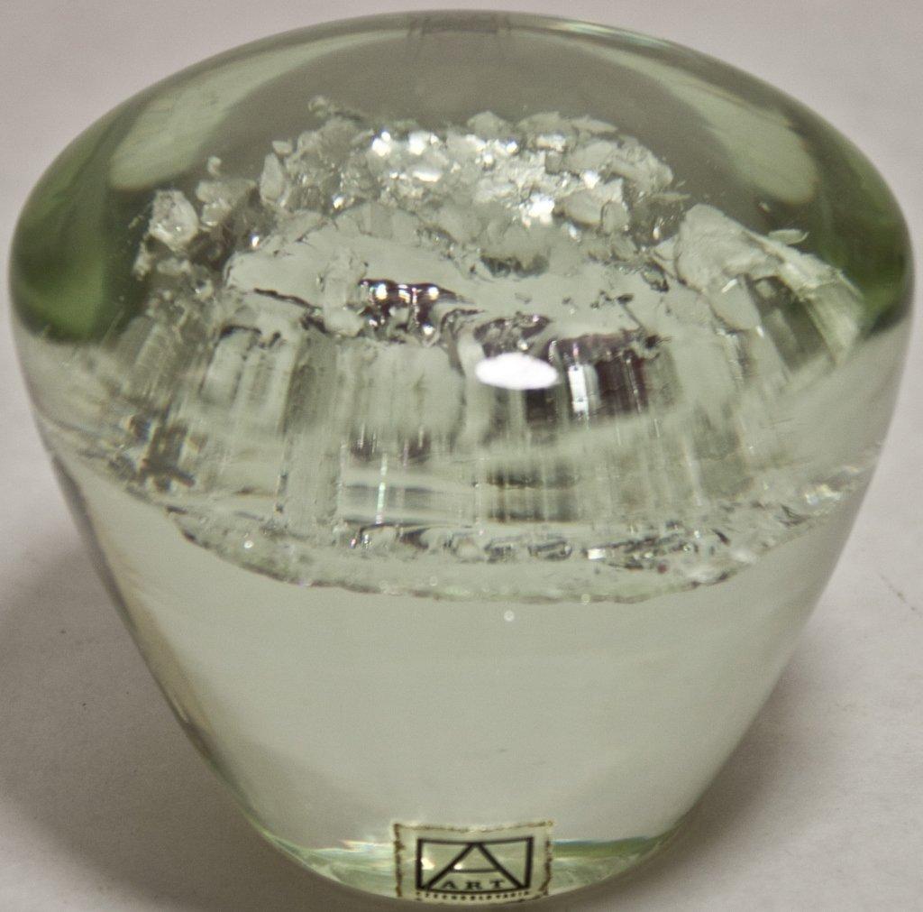 11: Czech Metallic Art Glass Paperweight