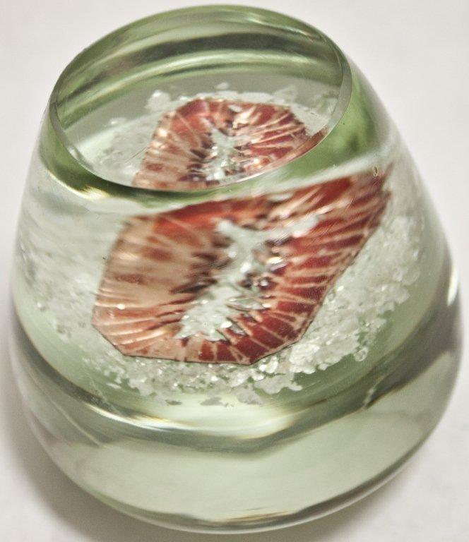 11: Czech Metallic Art Glass Paperweight - 5