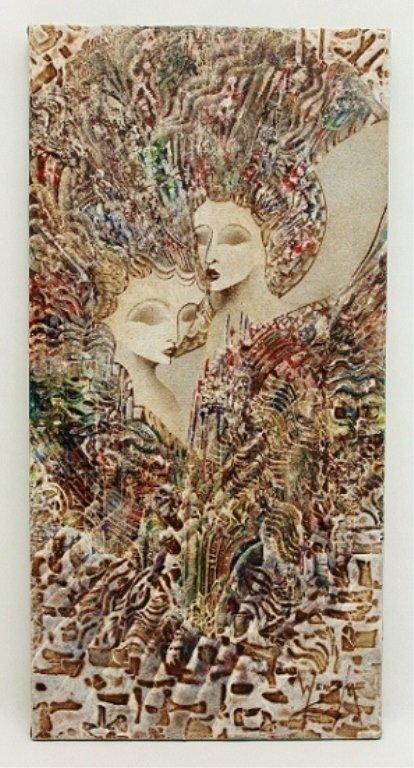 "27: Jan Wenczka Oil on Canvas. ""Faces"""