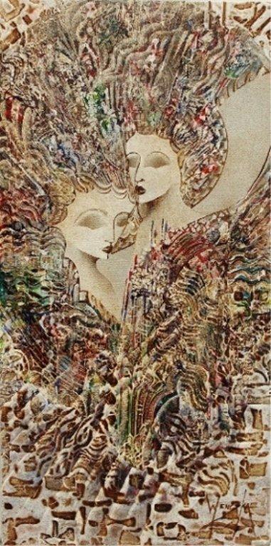 "27: Jan Wenczka Oil on Canvas. ""Faces"" - 2"