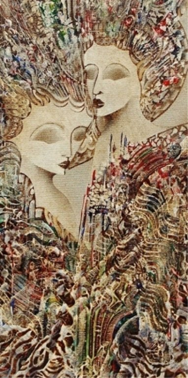 "27: Jan Wenczka Oil on Canvas. ""Faces"" - 3"