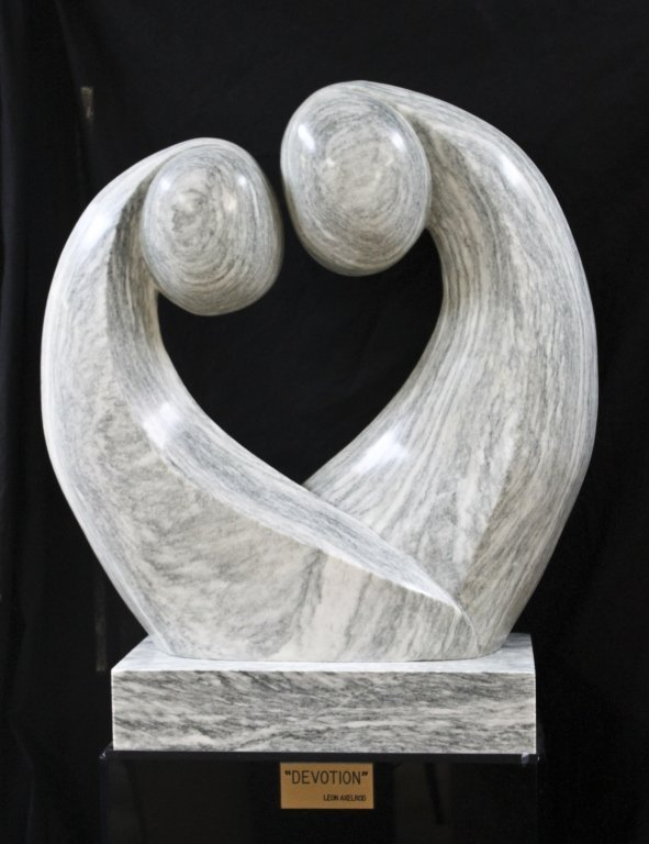 """56: Large Abstract Marble Sculpture. """"Devotion"""" - 2"""