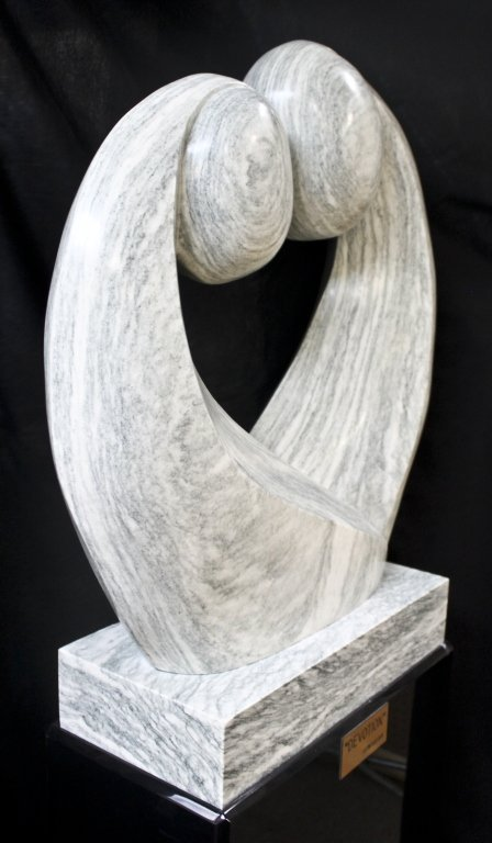 """56: Large Abstract Marble Sculpture. """"Devotion"""" - 3"""