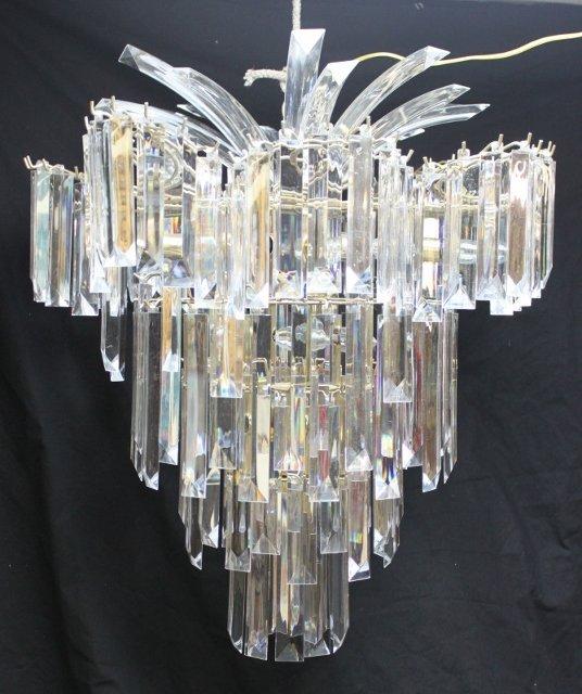 102: Unique Lucite Crystal Chandelier - 2