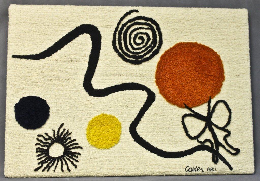 111: Alexander Calder Latch Hook Wall Rug / Tapestry