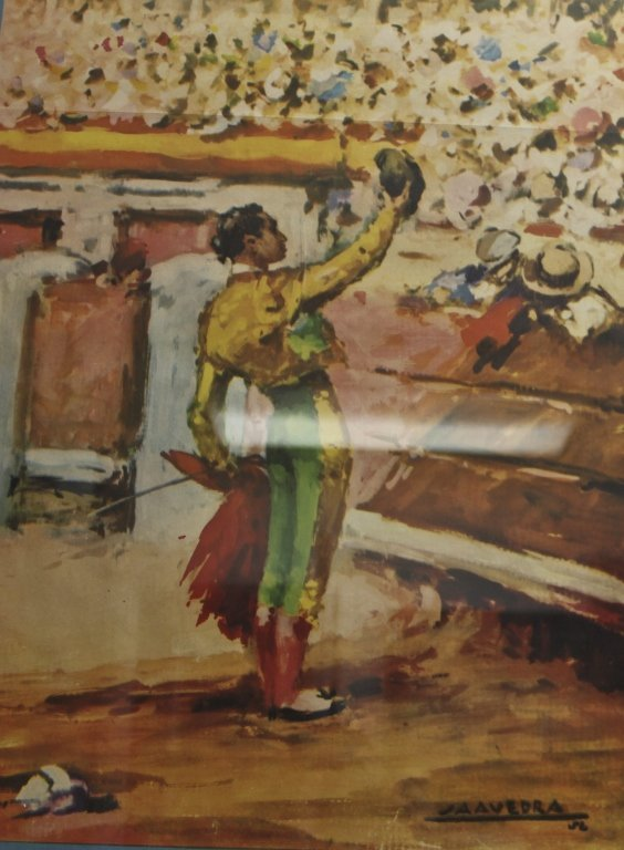 161: Original 1947 Spanish Bull Fighting Poster - 3