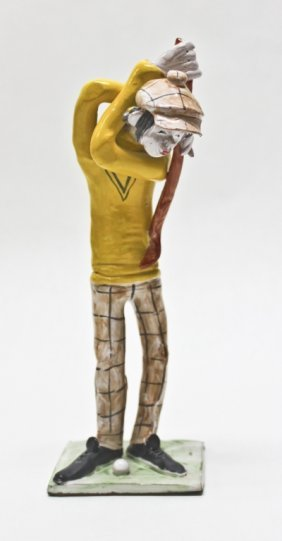 Poli, Italy Swinging Golfer Figurine
