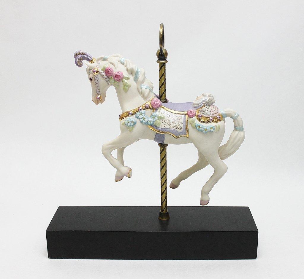 """76: Cybis Porcelain Carousel Horse """"Sugar Plum"""""""