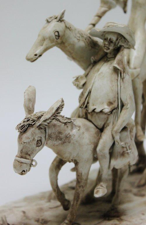 82: Longo Cerva Italy Porcelain Sculpture Don Quixote - 4