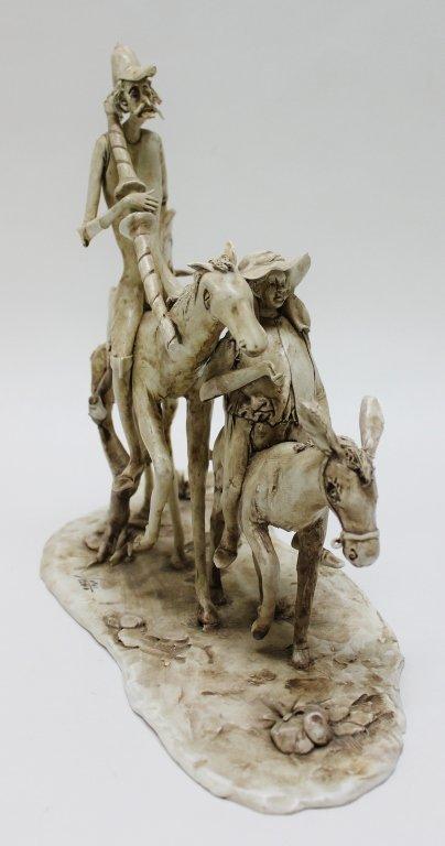 82: Longo Cerva Italy Porcelain Sculpture Don Quixote - 5