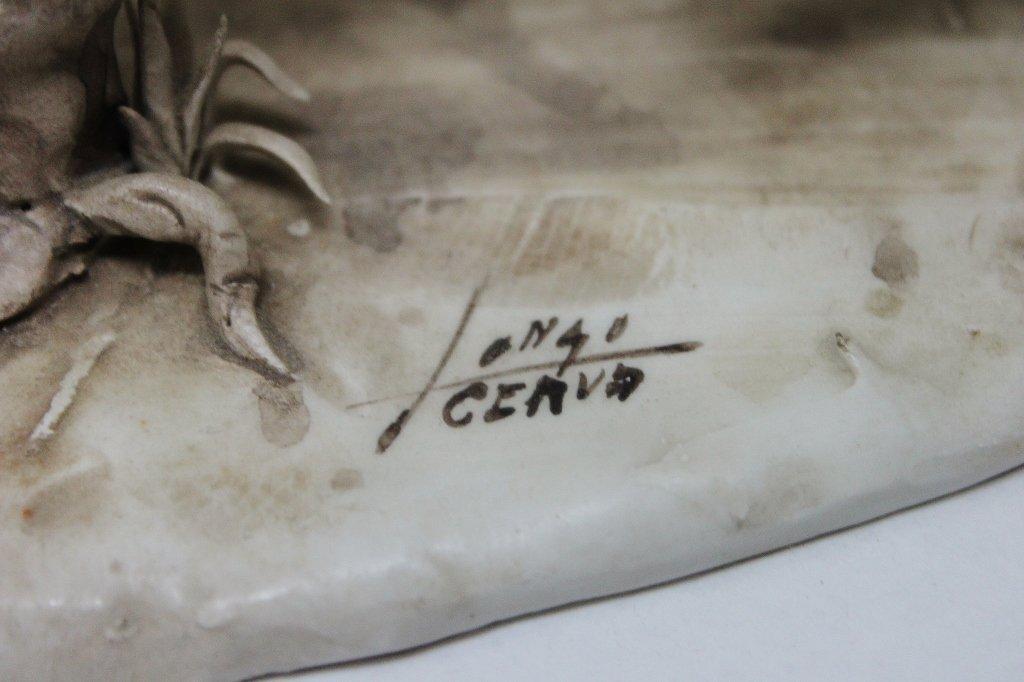 82: Longo Cerva Italy Porcelain Sculpture Don Quixote - 9