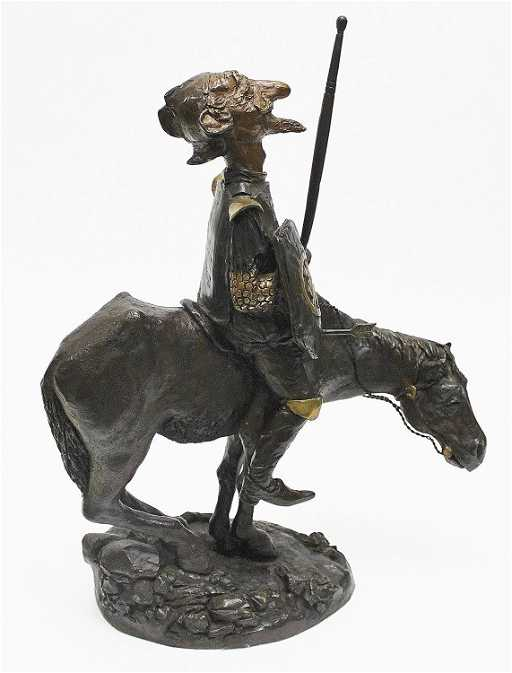 83: Charles Bragg Bronze Sculpture \