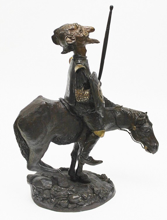 "83: Charles Bragg Bronze Sculpture ""Don Quixote"""