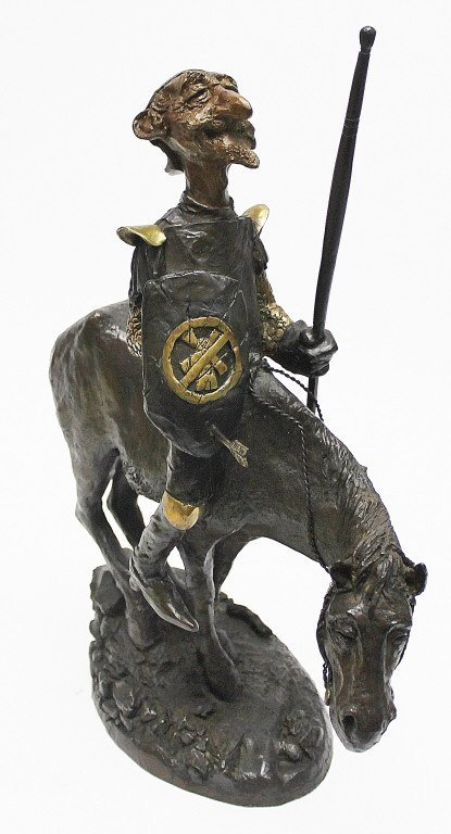 "83: Charles Bragg Bronze Sculpture ""Don Quixote"" - 2"